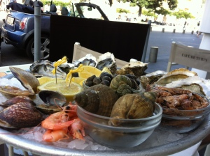 "This ""plateau"" of sea-fruits was quite expensive (35 euros) as far as I remember, but totally delicious"